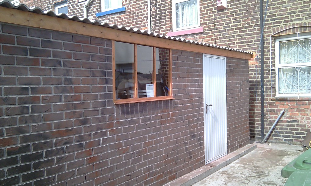 After- The Brick Effect Render - Paul Clamp Plastering