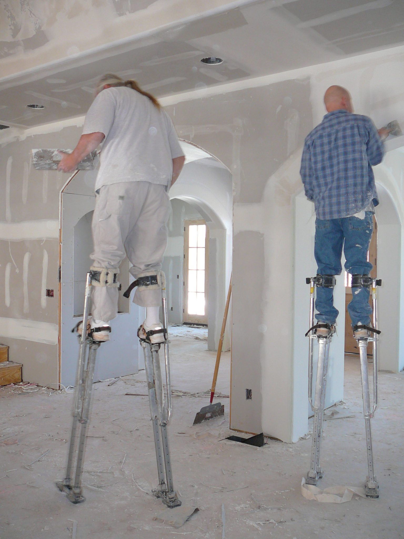 Use Of Stilts For Plastering And Drylining Plasterers News