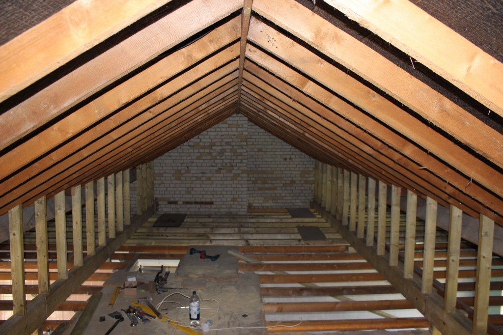 attic rafter storage ideas - The Renovation 3 Ceilings Down & Loft Conversion