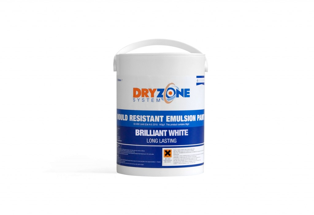 Keep black mould at bay with safeguard dryzone system for Can you use emulsion paint on canvas