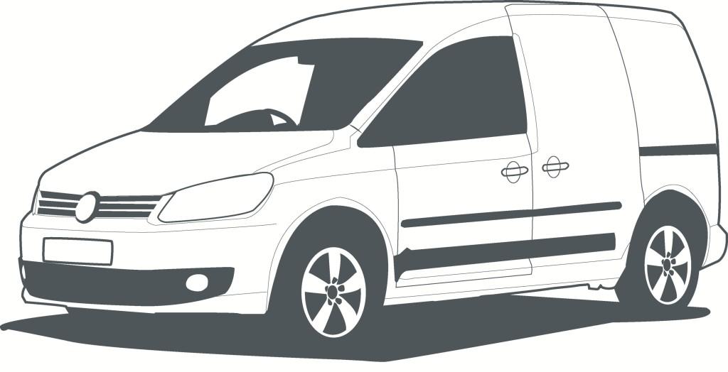 Van - VW caddy lien drawing