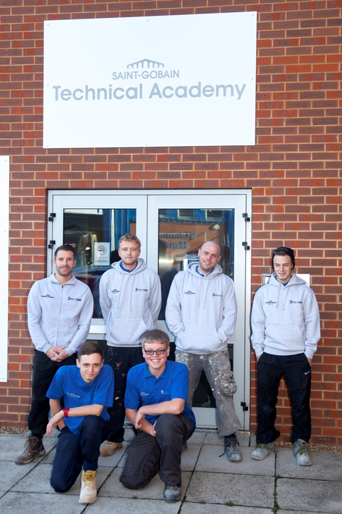 British Gypsum apprentices at the Saint-Gobain Technical Academy in Erith