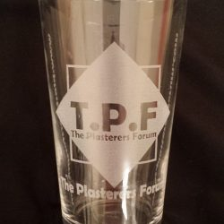 The Plasterers Forum® Pint Glass