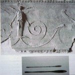 Roman pargeting and tool
