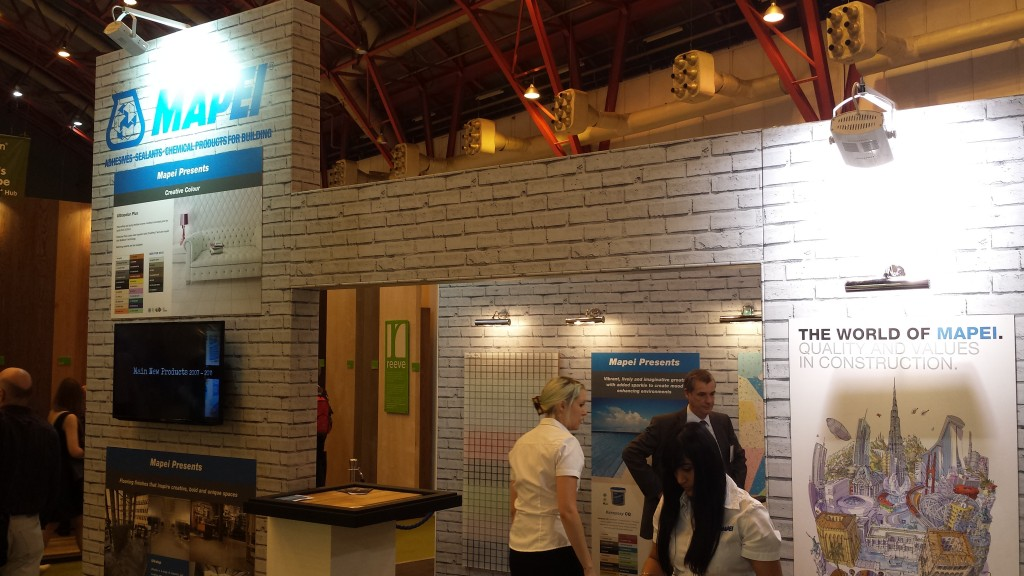 Mapei at 100% Design Show Earls Court