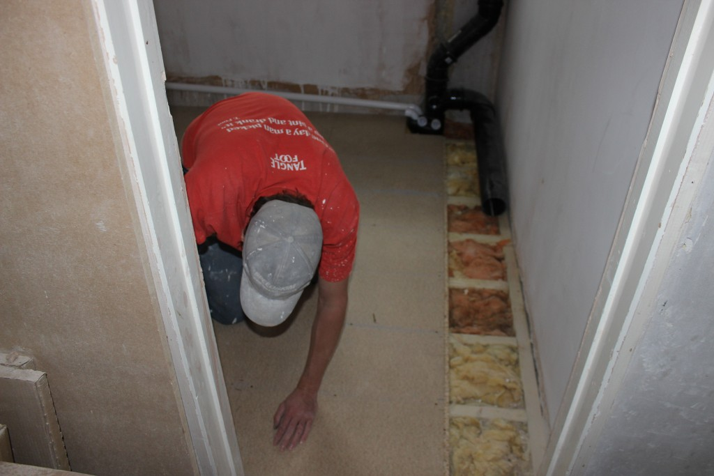 Laying Bathroom Floor