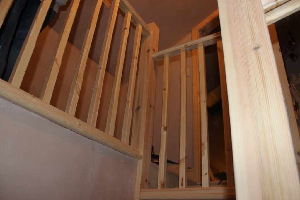 Stair Bannisters Going In