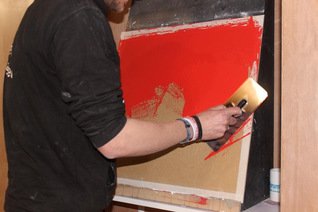 Red Venetian Plaster Base coat
