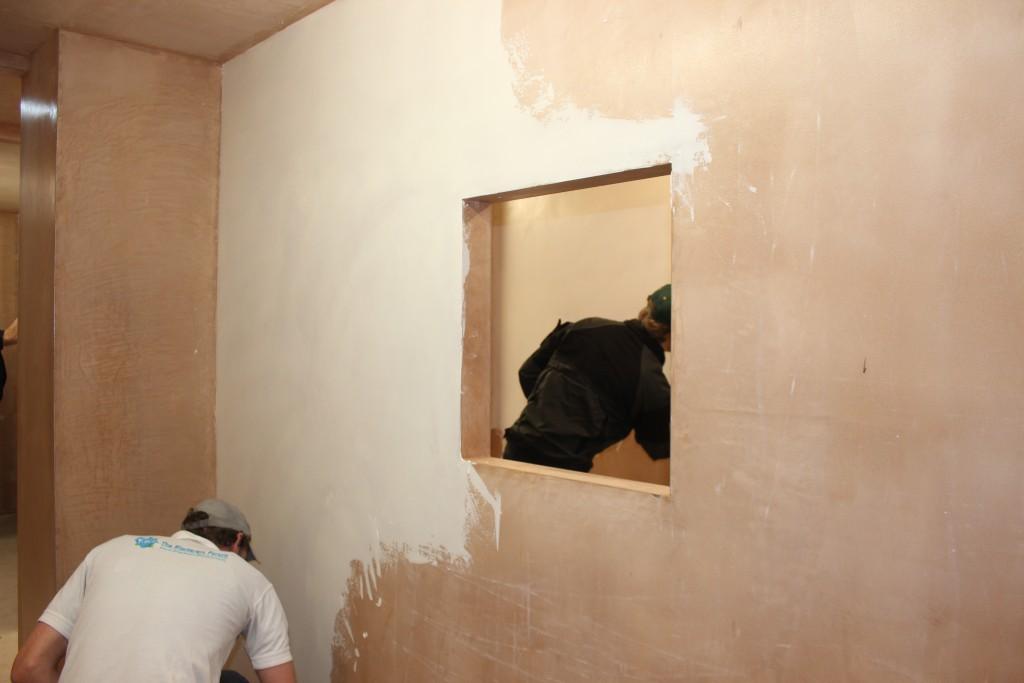 Venetian Plaster Base coated wall