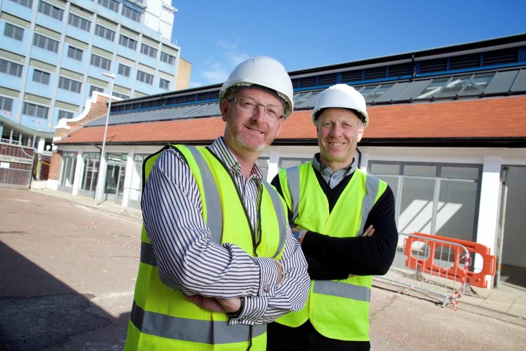 Eurocell  Sneinton Market - Darren Scarborough (left) and Ian Hartshorne, MD, Derbyshire Floorcraft (right)