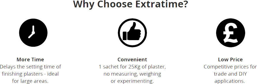 Why Choose ExtraTime ExtraTime Plaster Retarder
