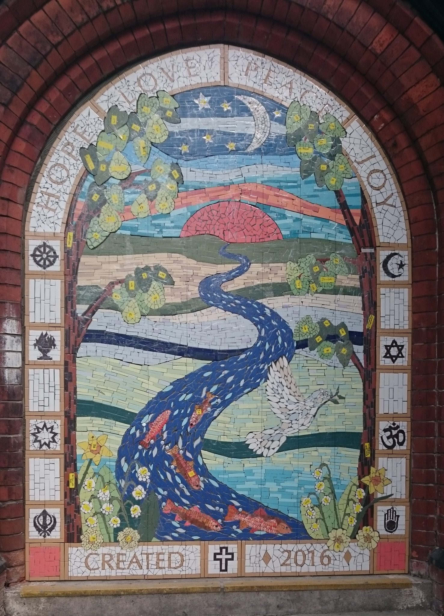Instarmac brands used to create bespoke mosaic masterpiece